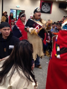 Entry of the dancers from Hoonah